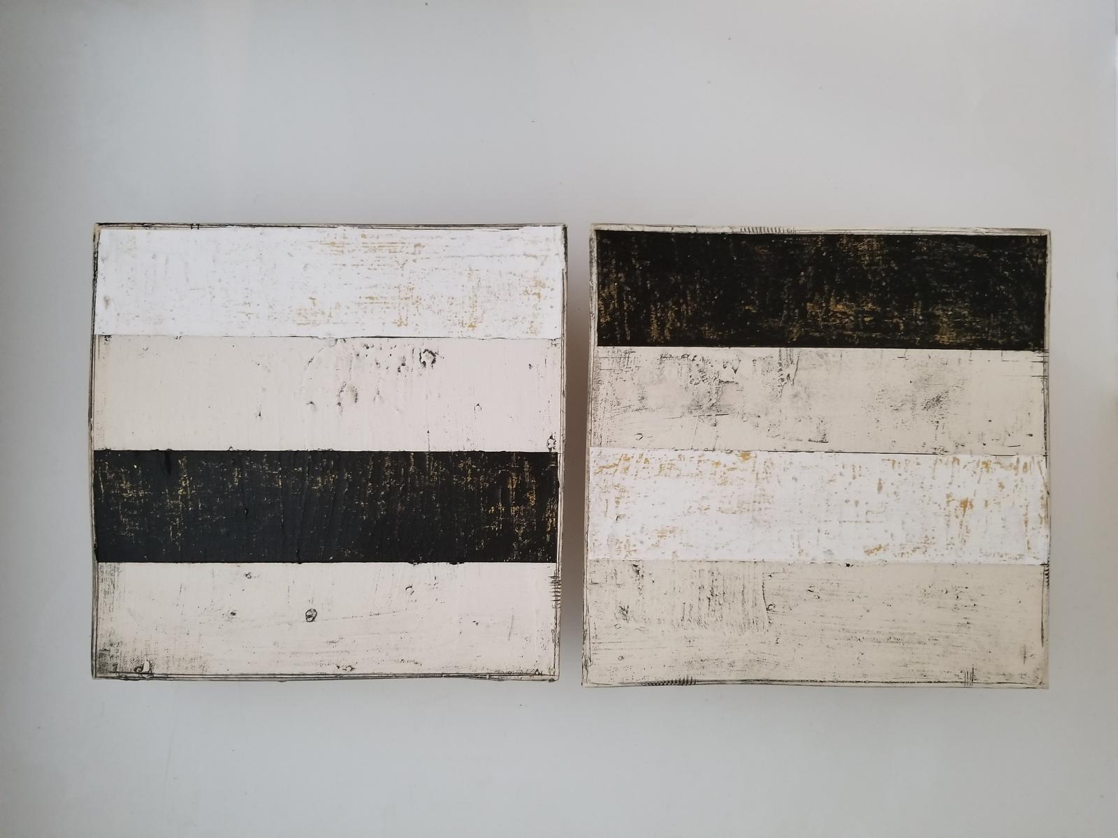 Pair in Black, White and Gold