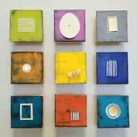 "Nine in Color         $1620  17""x17""x2.5"" as shown.