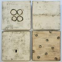 "Composition of Four $2400.              25""x25""