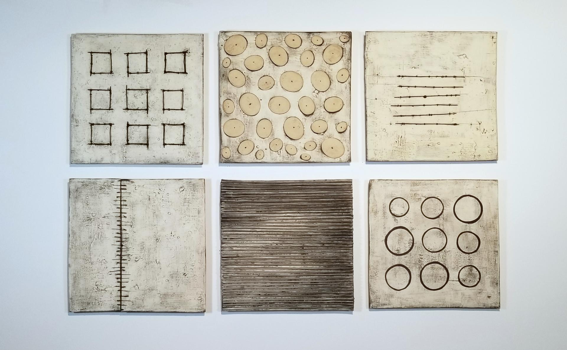 "Grouping of 14"" Squares
