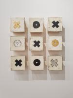 "Tic Tac Toe        $1620  17""x17""x2.5"" as shown.
